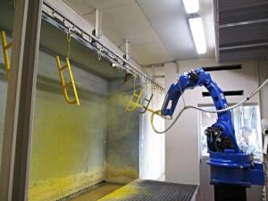 粉体塗装ロボット